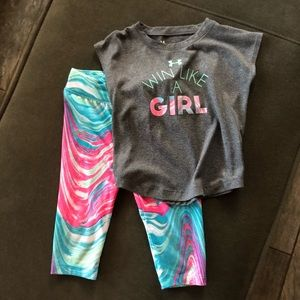 Girls Under Armour 3T Outfit